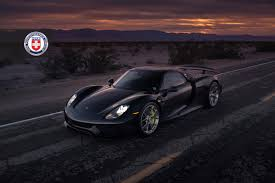 porsche 918 spyder black black porsche 918 spyder with weissach pack gets hre wheels