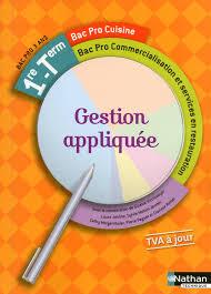 sciences appliqu s cap cuisine gestion appliquée 1re tle bac pro cuisine commercialisation et