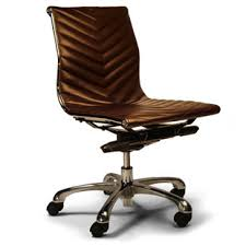 brown leather armless desk chair 810 411 the nines pinterest hospitality