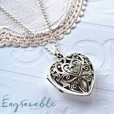 necklace locket images Silver vintage heart locket necklace by martha jackson sterling jpg