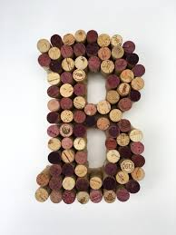 wine cork letter b made from real wine corks cork letters