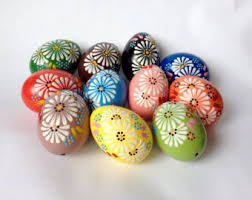 wax easter egg decorating set of 12 decorated painted chicken easter egg
