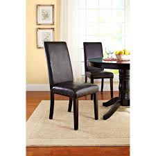 Parsons Chair Leather Chairs Mason Parsons Chair Contemporary Faux Leather Dining Chair