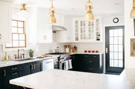 brass and black kitchen cabinet hardware touch of brass the brass hardware trend is still going strong