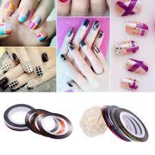 20pcs multicolor mixed colors rolls striping tape line nail art