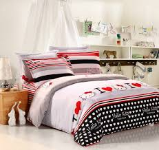girls black and white bedding low price hello kitty bedding comforter sets with black red