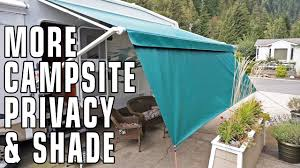 Awning Means Improve Campsite Privacy U0026 Shade With Tough Top Awnings Privacy Panels