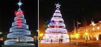 impressive ideas tree led spiral white outdoor