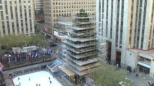 the 94 foot rockefeller center tree arrive by