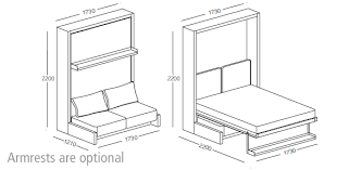 Nuovoliola Wall Bed Clei Wall Beds London  Free Standing Wall - Double sofa bed dimensions