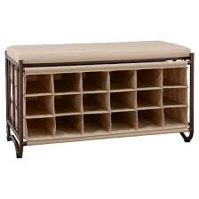 Real Simple Split Top Bench Storage Unit Instructions by Entryway Shoe Rack Bench Target