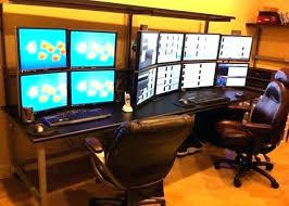 Computer Desk For Two Monitors Computer Desk For Two Monitors Dual Monitor Computer Desk Duo Dual