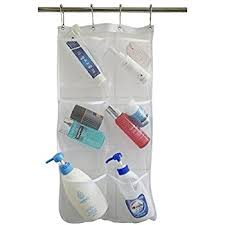 Clear Bathroom Accessories by Amazon Com Honla 2 Pack Hanging Mesh Bath Shower Caddy Organizer