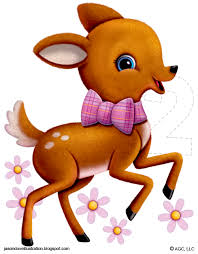 jason dove illustration deer 2 year old birthday card