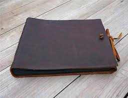 leather bound photo albums leather bound scrapbook album handmade leather bound album custom