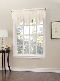 Crushed Sheer Voile Curtains by Erica Semi Sheer Crushed Voile Rod Pocket Panel Valance With