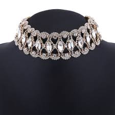 rhinestone choker collar necklace images Fashion rhinestone choker necklace women luxury chocker chunky jpg