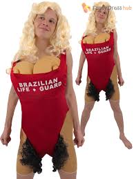 Lifeguard Halloween Costume Adults Brazilian Babs Lifeguard Costume Mens Hairy Mary Fancy