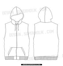 28 images of template for a hoodie vest infovia net
