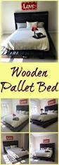 Pallet Bed Furniture Ideas Best 25 Wooden Pallet Beds Ideas On Pinterest Pallet Platform