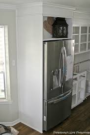 Small Under Desk Refrigerator Remodelaholic Small White Kitchen Makeover With Built In Fridge