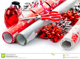 wrapping paper rolls royalty free stock image image