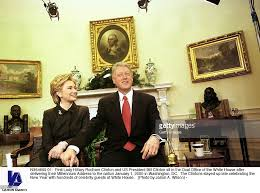 first lady hillary rodham clinton and us president bill clinton