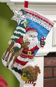 felt kits nordic santa bucilla christmas kit
