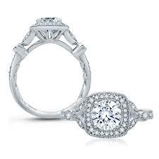 classic engagement ring a jaffe platinum classic engagement ring me2106q tq diamonds