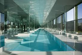 indoor swimming pool designs ideas with fantasy dome graffiti
