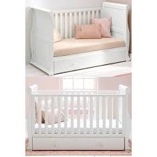 Sleigh Cot Bed East Coast Alaska Sleigh Cot Bed White Underbed Drawer