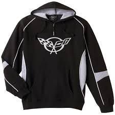 corvette hoodie c5 corvette black and gray hoodie sweatshirt corvette depot