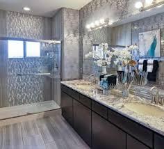 simple bathroom ideas with dark grey granite countertop using