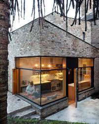modern brick house house with deco stone philippines interior design modern red brick