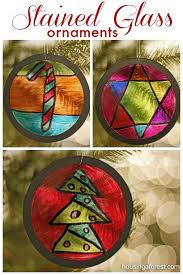 stained glass ornaments ornament and glass