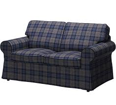 sofa slipcovers ebay ikea ektorp sofa loveseat slipcover rutna multicolor navy plaid