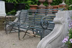 antique cast iron park bench ends only at eclectic pictures on