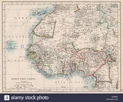Africa Colonial Map by Colonial West Africa Tribal Areas Caravan Routes Sokoto Masina