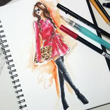 fashion illustration 2 fabric rendering color u2014 made institute