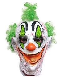 killer clown mask lepraclown clown mask rubber johnnies masks