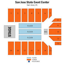 san jose state event center arena seating chart san jose state