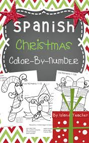 spanish christmas color by number 1 10 1 20 1 100 spanish