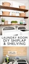 dining room shelves laundry room shiplap and diy wood shelves easy tutorial