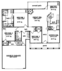 plan42 country style house plan 3 beds 2 baths 1573 sq ft plan 42 438