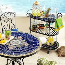 home design luxury small mosaic patio table serving cart home