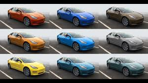 tesla model 3 color comparison aero sport wheels youtube