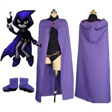 teen titans go raven women cosplay costume halloween fancy dress