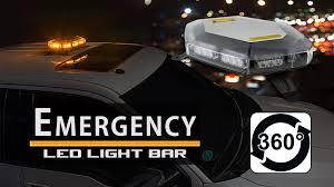 amber mini light bar led emergency light bar strobe amber mini 360 degree youtube