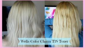 gray colors toning blonde hair wella color charm t18 toner youtube