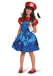 mario girls dress costume